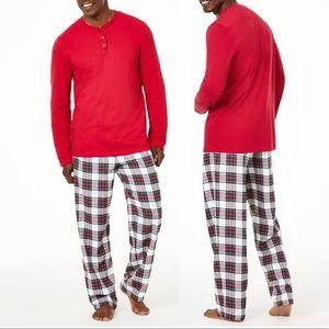 Family Matching PJ's Men's Plaid Pajama Set NWT!